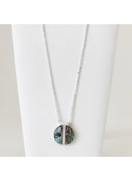 CARACOL CARACOL CHAINE DELICATE PENDENTIF ABALONE MULTI-ARG