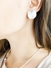 CARACOL CARACOL B. OREILLE PASTILLE RONDE TEXTURE ROSE GOLD