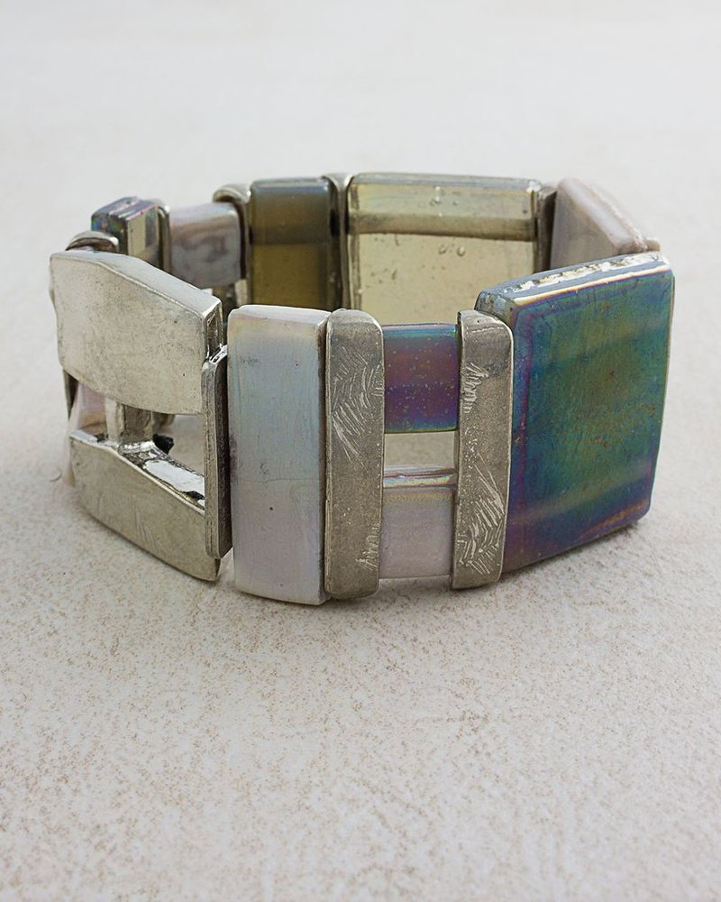 ANNE MARIE CHAGNON CHAGNON BRACELET MAROA NEUTRAL IRISED