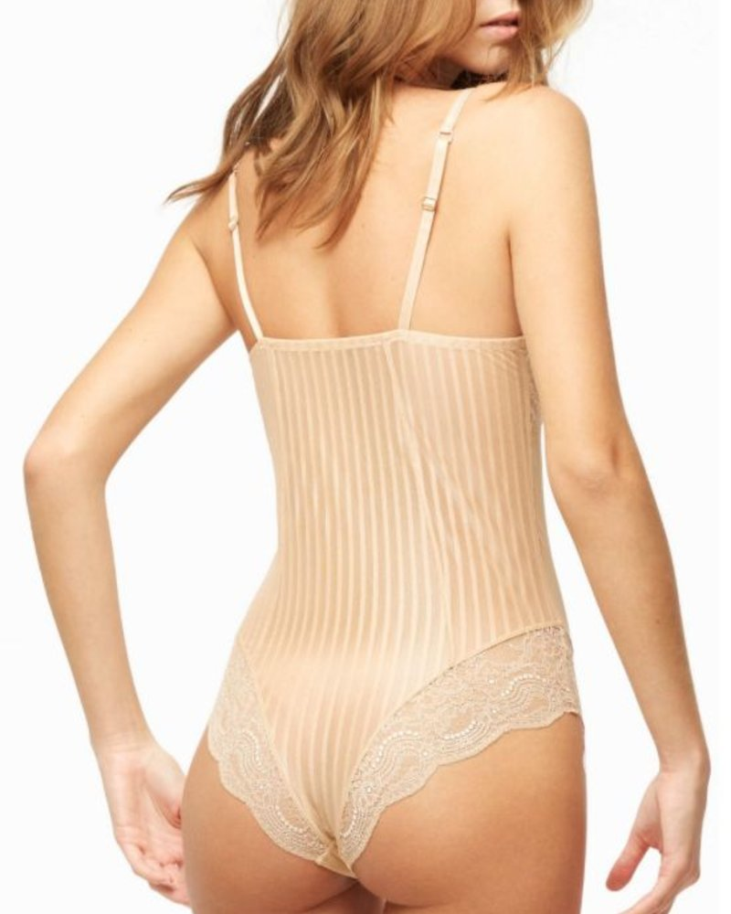 BLUSH 1 PIECE TEDDY ALMOND UNDERWEAR