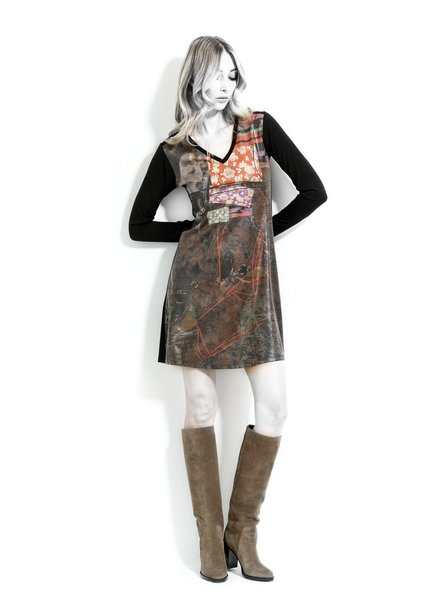 VOLT DESIGN BLACK POP DRESS
