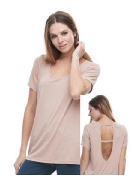 FASHION/OVERLOAD OPEN JERSEY ON THE BACK PINK