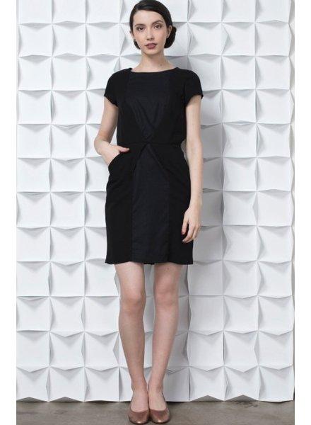 RUSKA DRESS BLACK