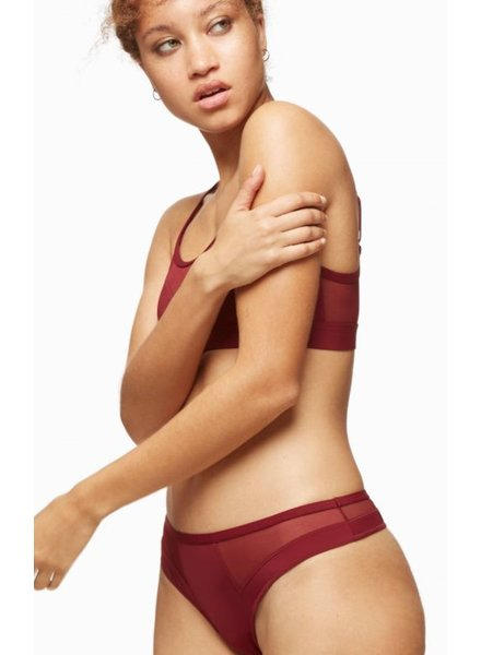 BLUSH BLUSH CULOTTE THONG BOUND PORT/BOURGOGNE