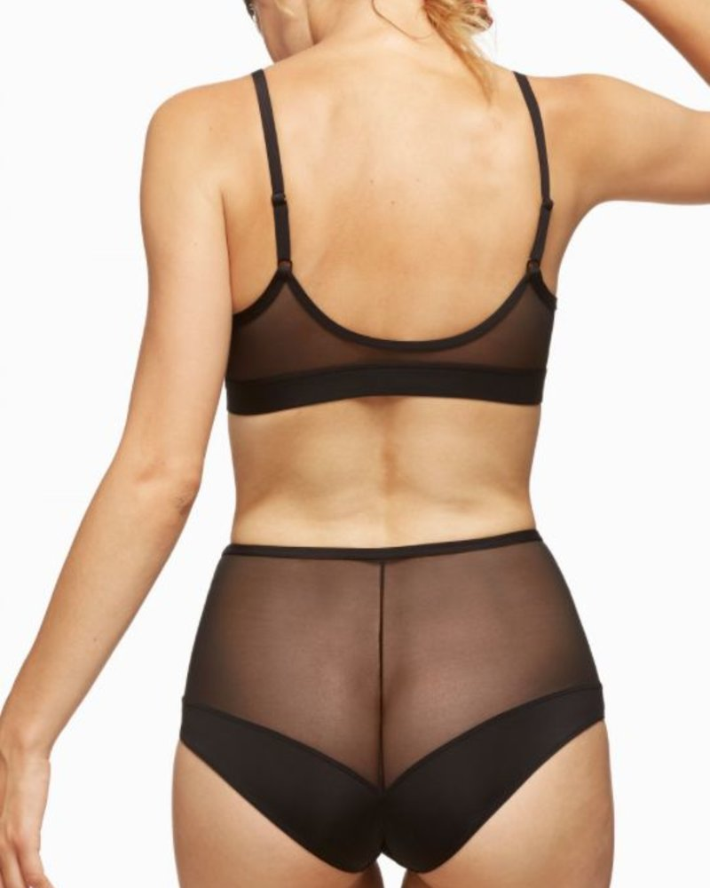 BLUSH BLUSH CULOTTE BOUND HIGH WAIST BRIEF NOIR