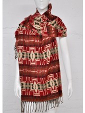 SCARF SHIMLA RED