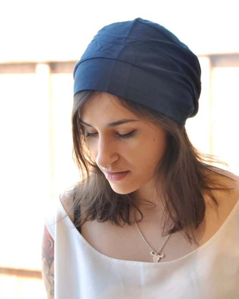 MONICA NAVY HAT