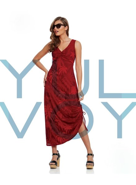 LUC FONTAINE YULVOY MALIBU DRESS RED