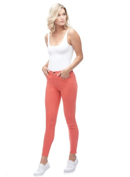 YOGA JEANS YOGA JEANS RACHEL CLASSIC RISE  ANKLE BERRY/CORAIL