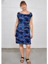 NOMADE MARIPOSA DRESS MONET BLUE