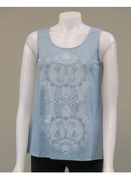 LEOPARDS AND ROSES LEOPARDS AND ROSES  LOTUS TANK BLUE