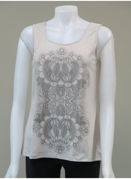 LEOPARDS AND ROSES LEOPARDS AND ROSES LOTUS TANK GREY