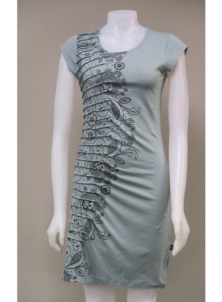 LEOPARDS AND ROSES LEOPARDS AND ROSES PLEATED DRESS AQUA