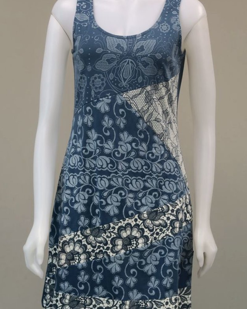 LEOPARDS AND ROSES LEOPARDS AND ROSES FLOWERY BLUE DRESS