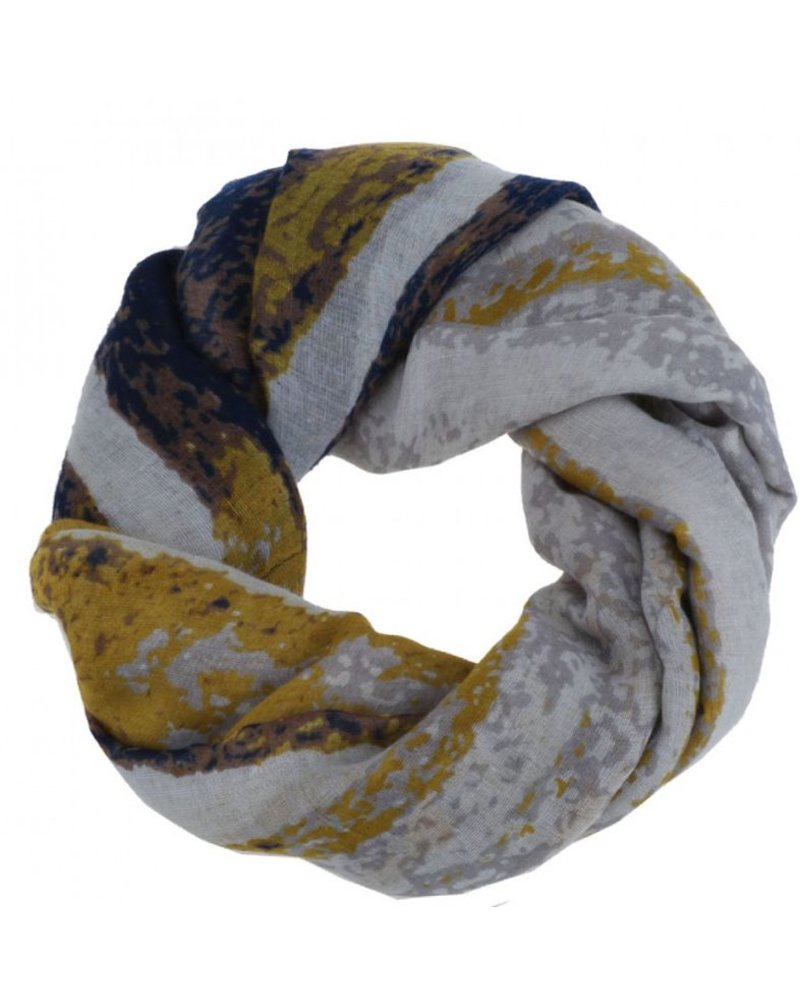 CARACOL CARACOL FOULARD MURAILLE DE CHINE MOUTARDE
