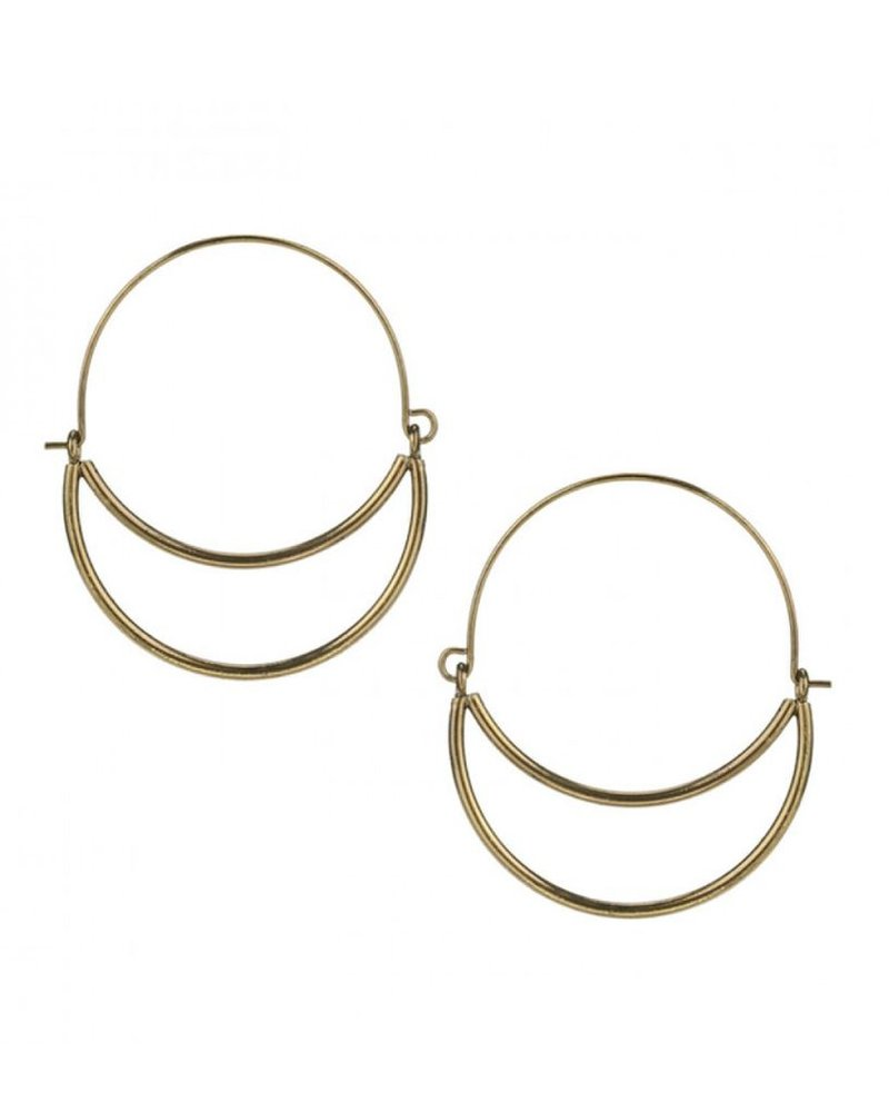 CARACOL CARACOL EARRINGS DOUBLE RING GOLD