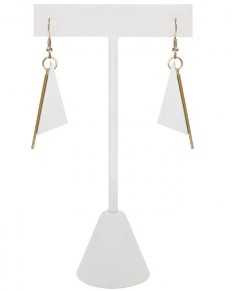 CARACOL CARACOL EARRINGS TRIANGLE WHITE