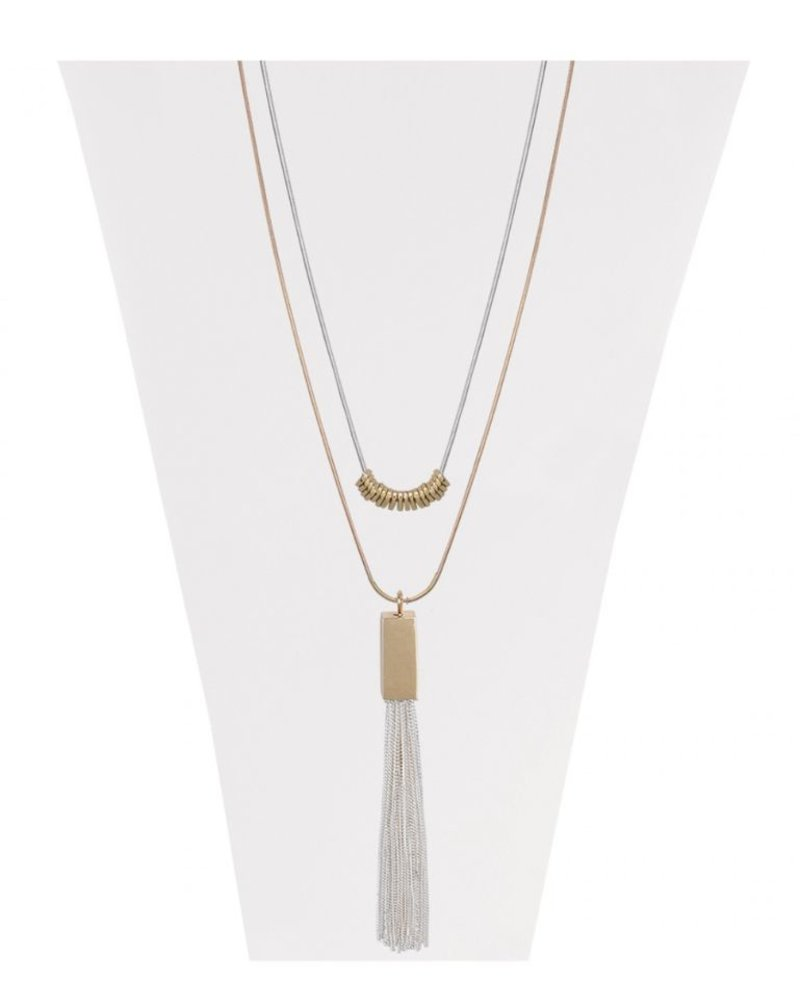 CARACOL CARACOL LONG COLLIER 2 NIVEAUX MIX