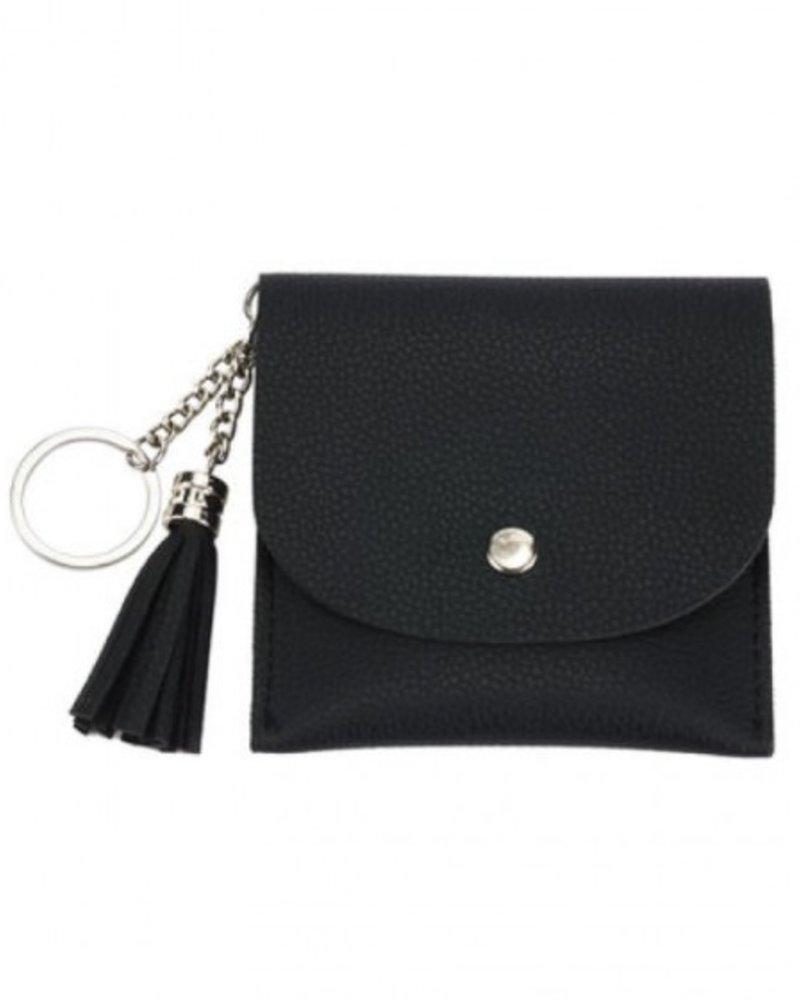 CARACOL CARACOL MINI BAG/KEY RING BLACK