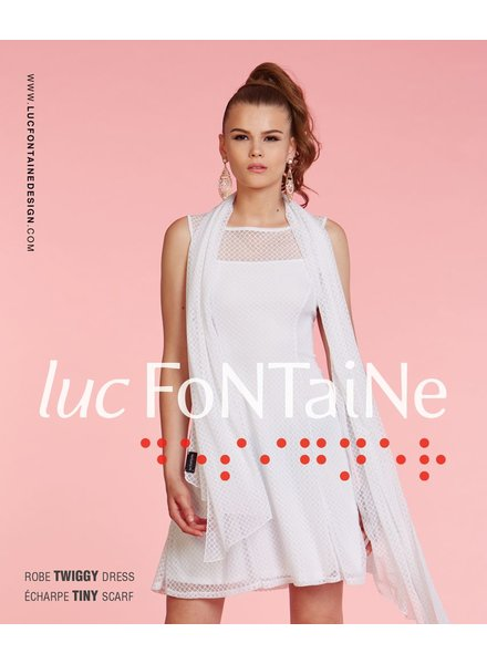 LUC FONTAINE LUC FONTAINE ROBE TWIGGY IVOIRE