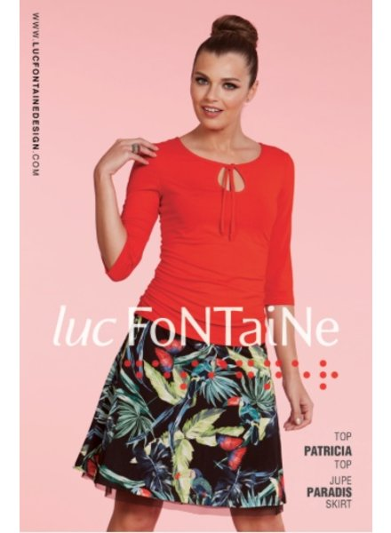 LUC FONTAINE LUC FONTAINE TOP PATRICIA RED