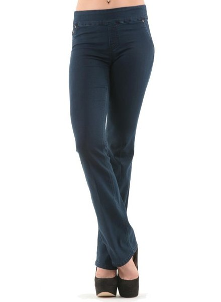 BECXY B. BECXY B. JEANS RILEY PULL ON STRAIGHT BLEU