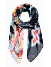 DESIGUAL DESIGUAL FOULARD KORA RECTANGLE MARINE
