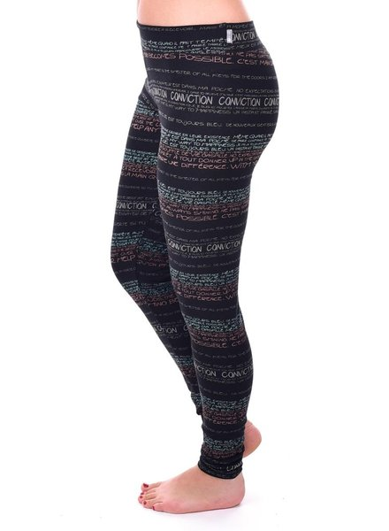 MESSAGE FACTORY MESSAGE FACTORY LEGGINGS NOIR