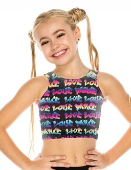 OSFA YOUTH LIVE DANCE LOVE DANCE CROP TANK