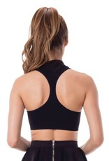 OSFA MOCK NECK RACERBACK CROP