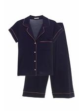 Eberjey Gisele Short Sleeve/Cropped Pant Set