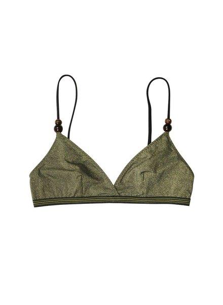 69482e0a84 Stella McCartney Stella Gold Triangle Bikini Top