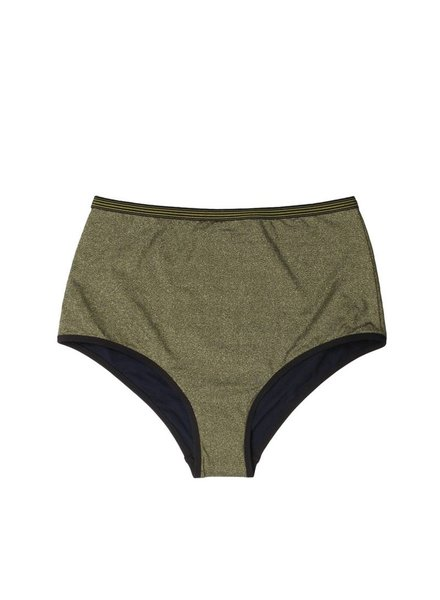 Stella McCartney Stella Gold High Waist Bikini Bottom