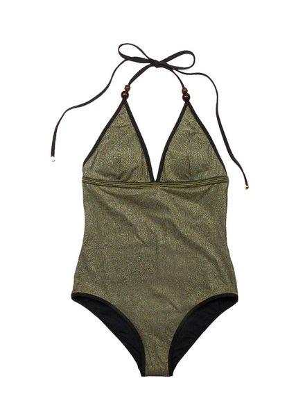 Stella McCartney Stella Gold One Piece Swimsuit