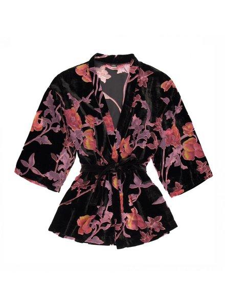 Only Hearts Black Dahlia Kimono