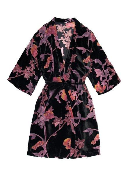Only Hearts Black Dahlia Midi Kimono