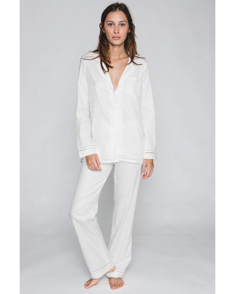 Maison LeJaby Pyjama Long Sleeve Cotton Top