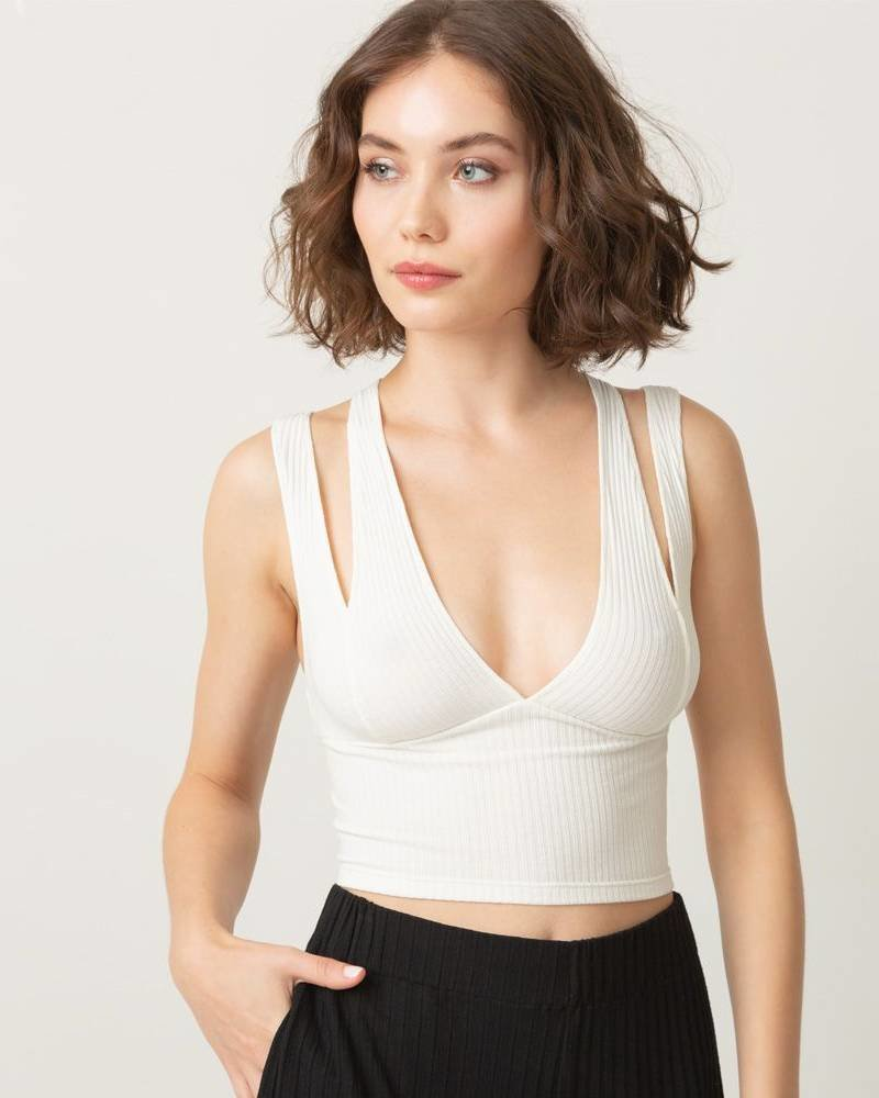 Only Hearts Sleeping Some Double Strap Crop Top