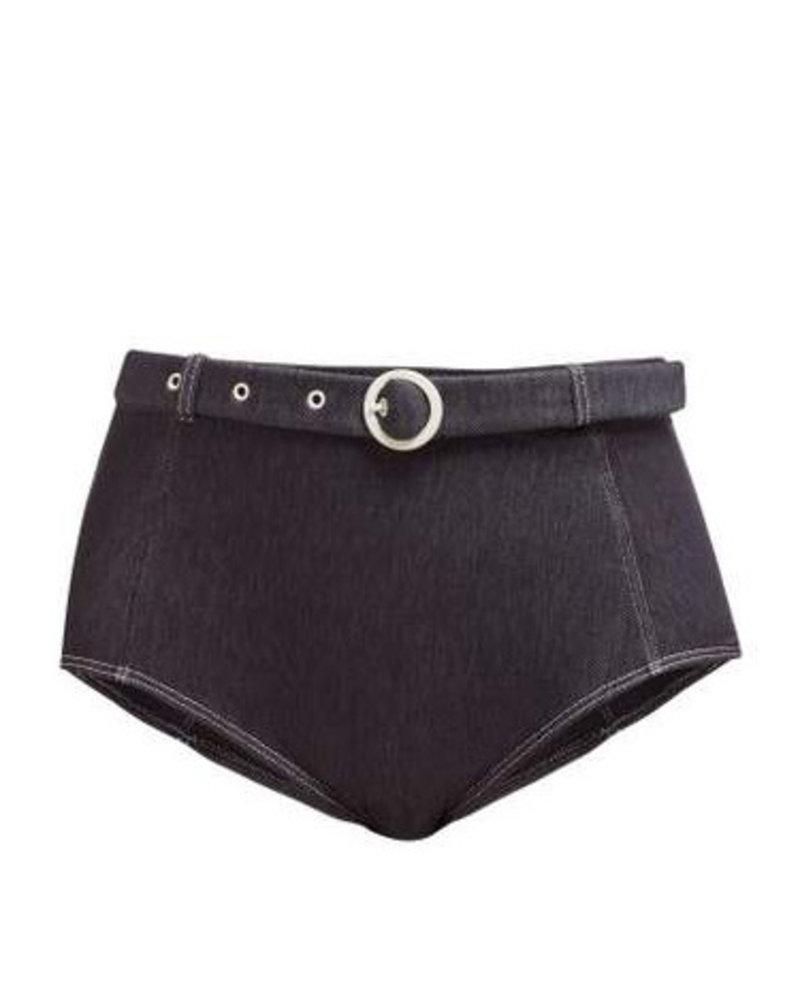 Solid & Striped Jean Bikini Bottom
