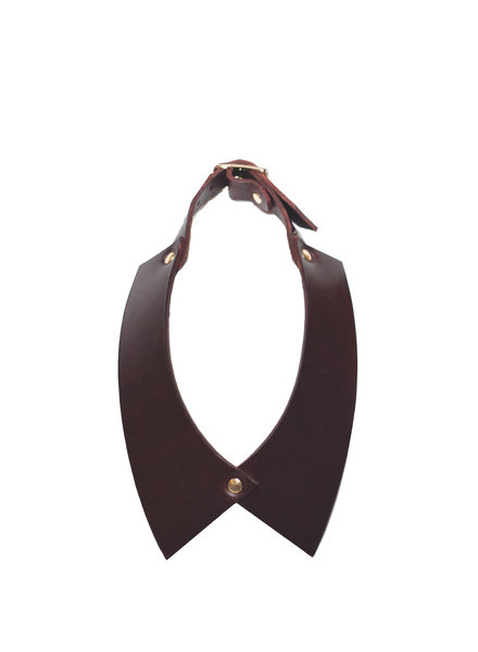 NDA Leather Camicia Collar