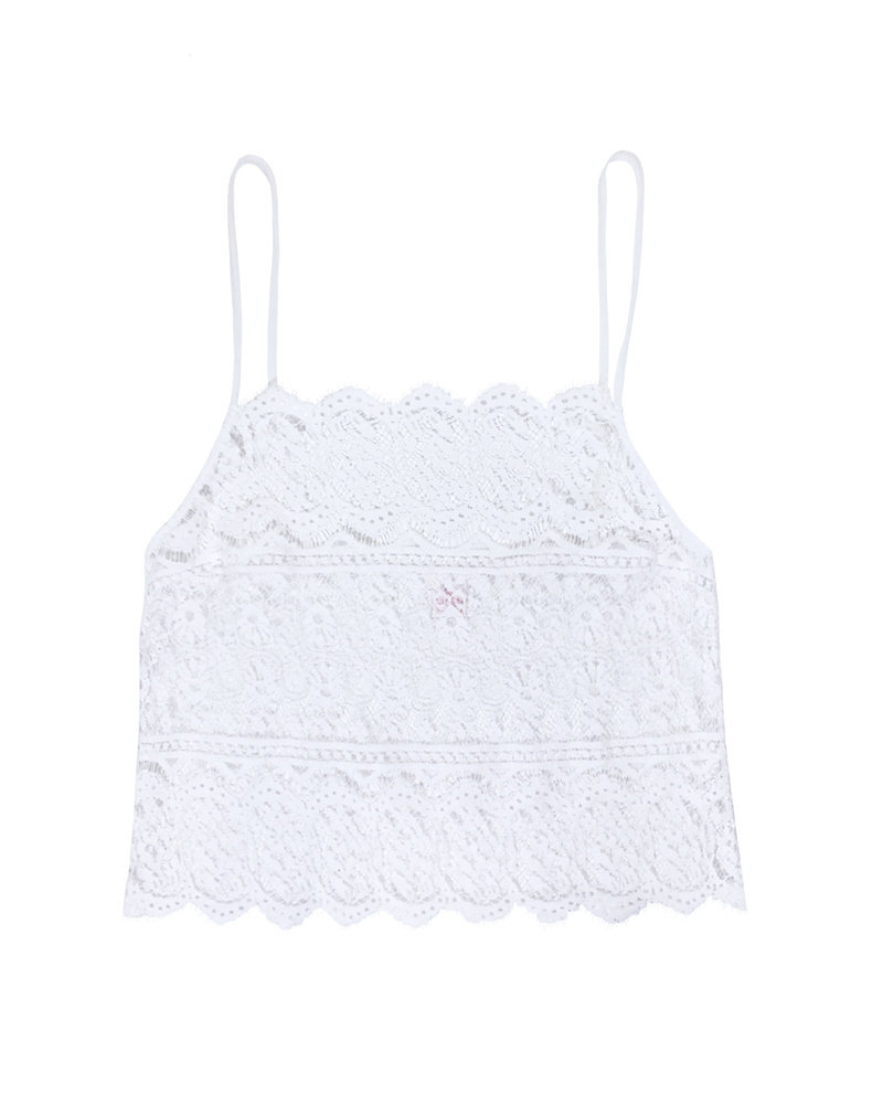 Only Hearts Victorian Lace Double Scallop Cami