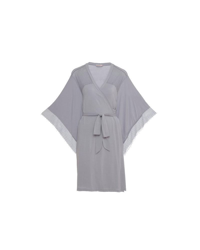 Eberjey Phoebe Inset Kimono Robe