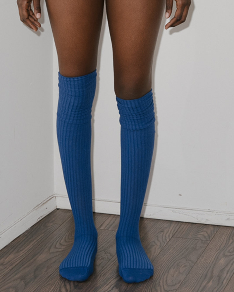 Base Range Cotton Rib Over Knee Socks