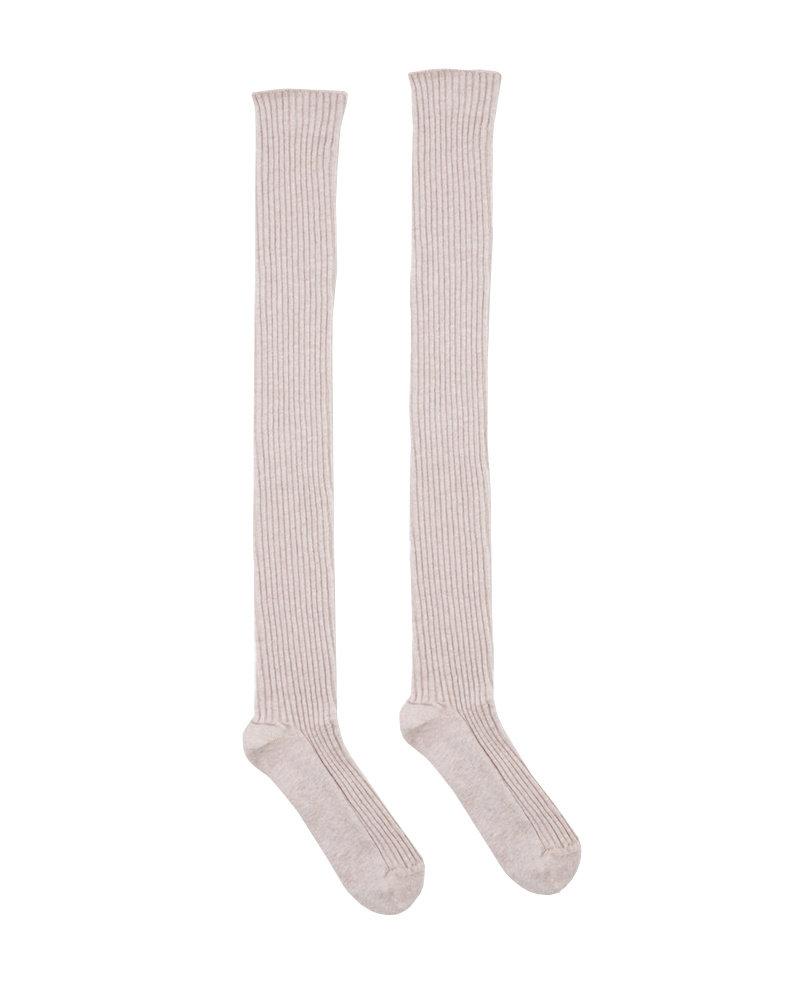Base Range Silk Rib Overknee Sock