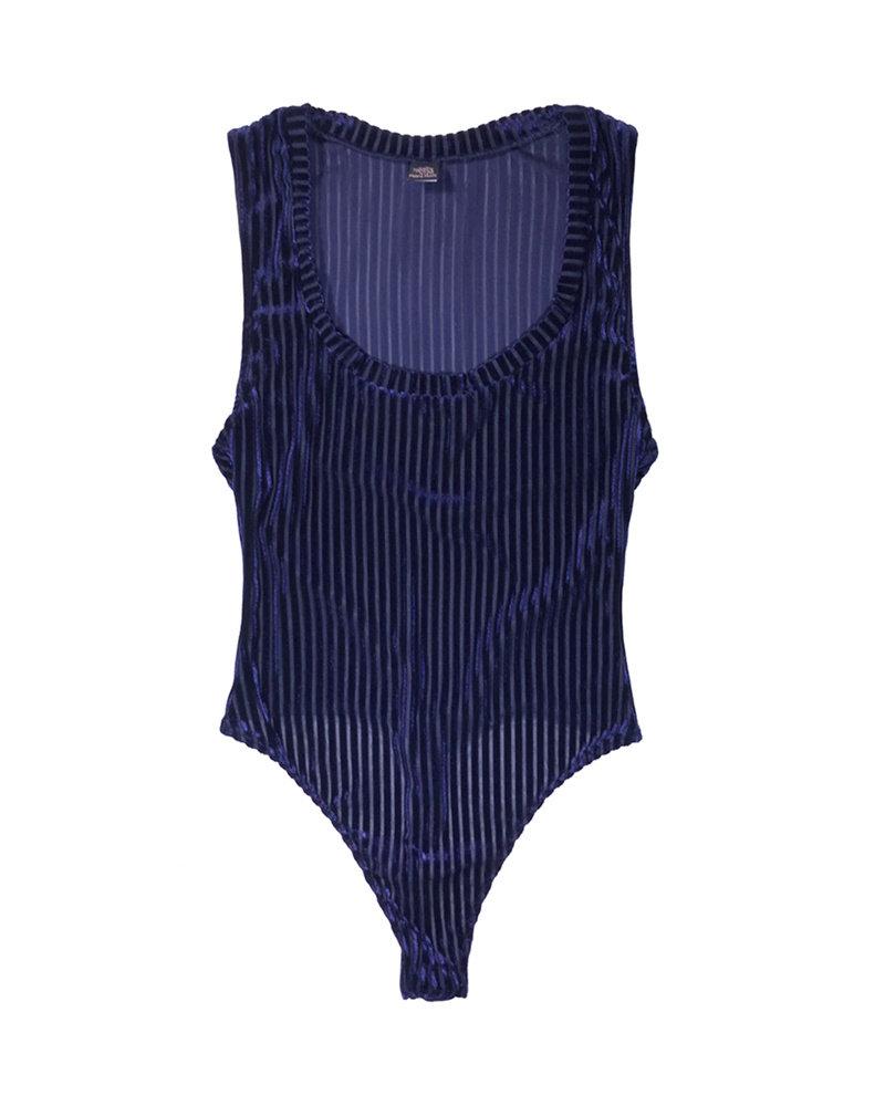 Only Hearts Velvet Rib Scoop Neck Bodysuit