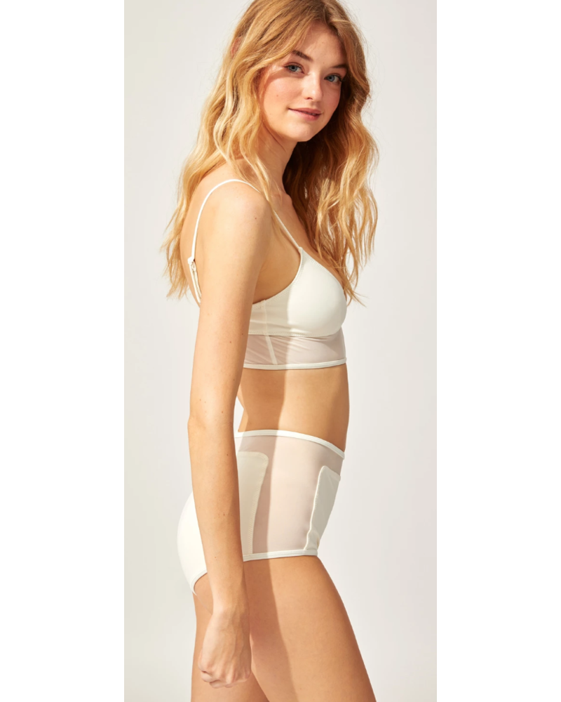 Solid & Striped Mesh Brigitte Bikini Bottom