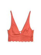 Only Hearts Eco Rib w/Lace Longline Bralette