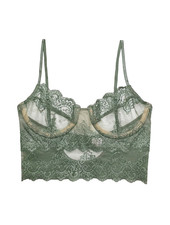 Only Hearts Eco Rib w/Lace Unlined Cami Bra
