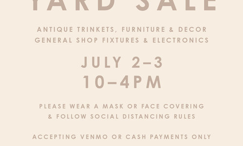 Lille Yard Sale 7/2 - 7/3