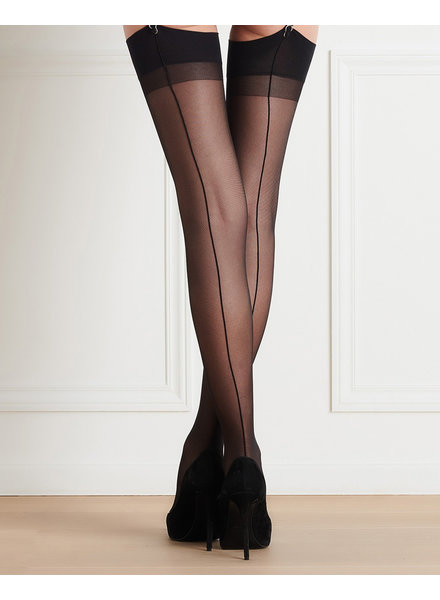 Maison Close Les Coquetteries Black Back Seamed Stockings